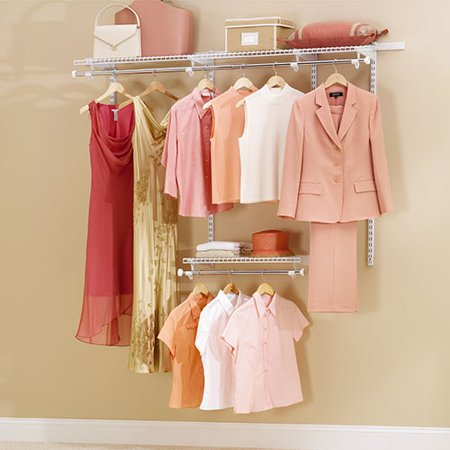Rubbermaid Configurable 3 To 6 Closet Kit  White