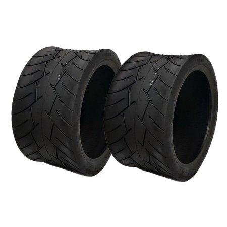 SET OF TWO: Tubeless Type Street Tire Size 17x8-12 (Front or Rear) for Golf Cart, Honda Ruckus, Maddog Ruckus Clone and ATV/UTV