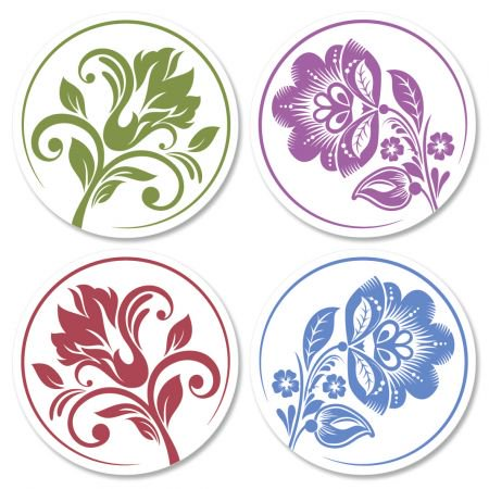 Lace Envelope Seals - Set of 24 (4 designs) sticker seals on 8-1/2