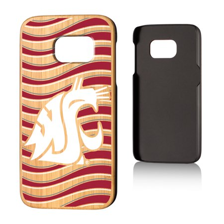 another chance 47a0f 31e3b WSU Washington State Cougars Wave Bamboo Case for Galaxy S7