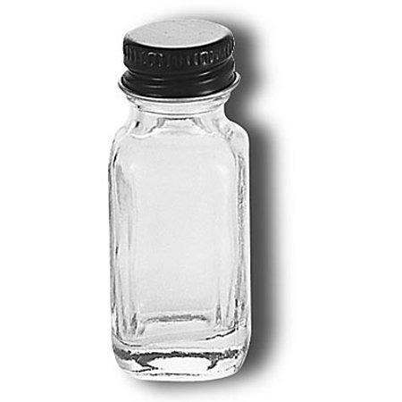 Small, Clear Glass Bottle Has Convenient Square Shape and Leakproof Cap (Small Glass Bottle)