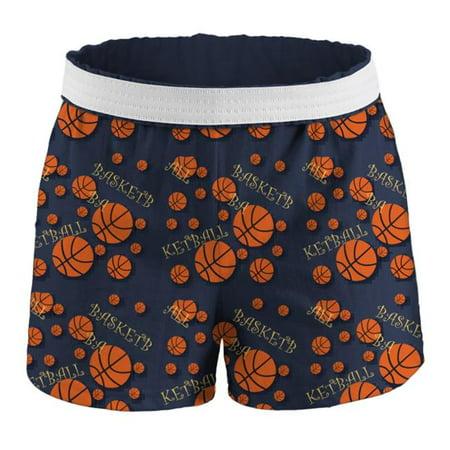Junior Basketball Printed Shorts, Basketball Print - Medium ()