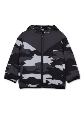 Wonder Nation Baby & Toddler Boys Camo Windbreaker Jacket (Sizes 12M-5T)
