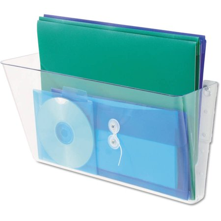 (2 Pack) Universal Add-on Pocket for Wall File, Letter, Clear -UNV53692