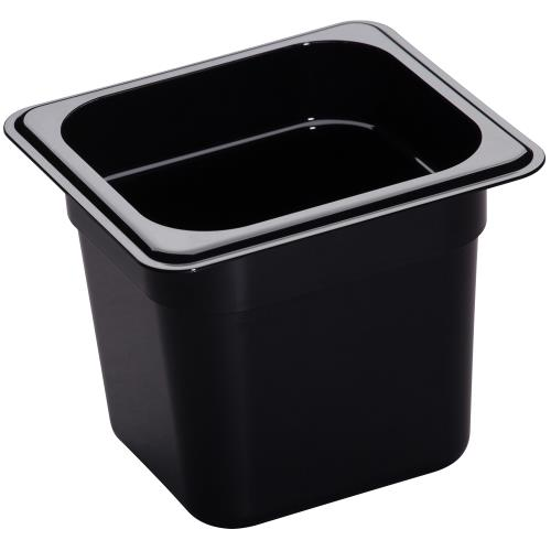 Cambro - 66HP110 - 1/6 Size 6 in Deep Black H-Pan™ Food Pan
