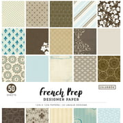 "Colorbok 12"" French Prep Designer Paper Pad, 50 Count"