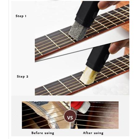 Plastic Dual Purpose Guitar Bass String Fingerboard Cleaner Rust Cleaning Tool  - image 8 de 11