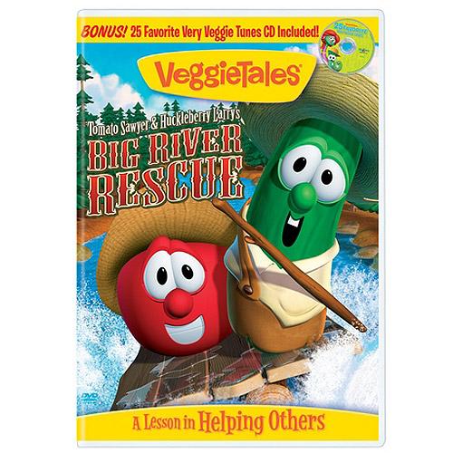 VeggieTales: Tomato Sawyer & Huckleberry Larry's Big River Rescue (DVD + Music CD) (Walmart Exclusive)