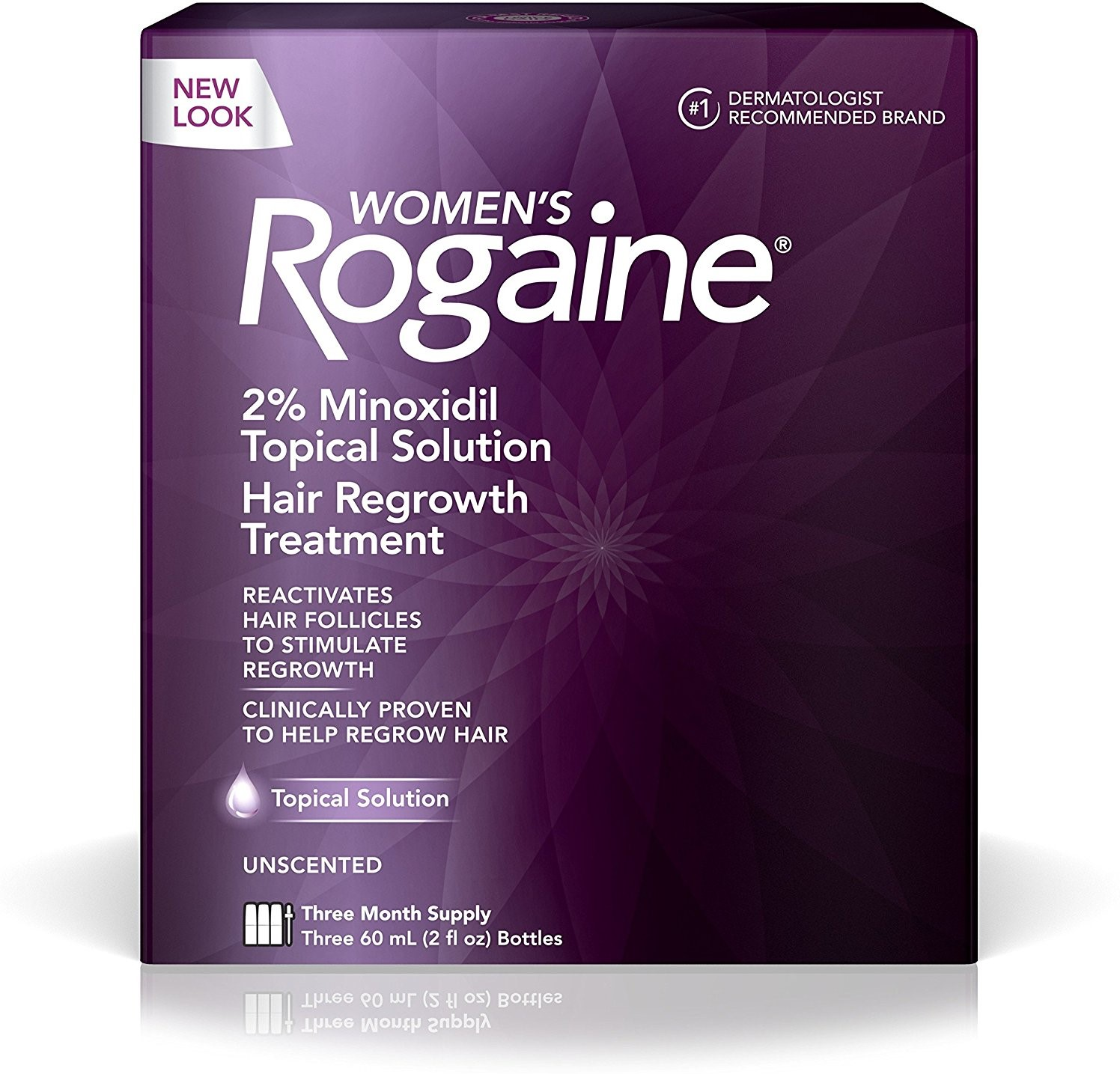 Rogaine Women's 3 Month Supply, Unscented 6 oz 3 ea