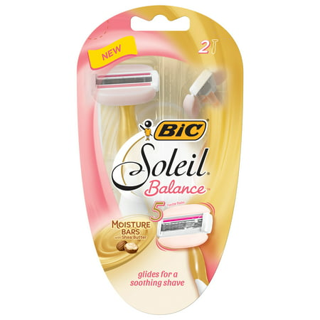 BiC 5 Blade Soleil Balance with Shea Butter Womens Disposable Razors - 2ct