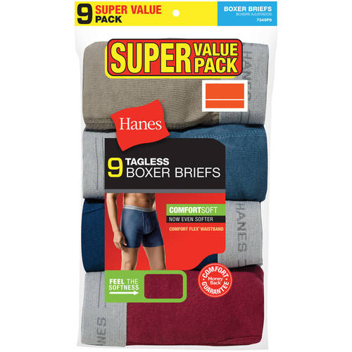 Hanes Men's Boxer Briefs, 9 Pack by Hanes