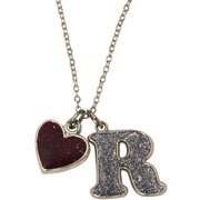 Glitter Initial R Necklace