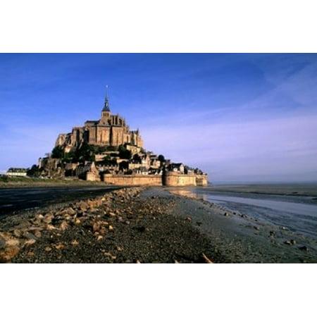 Normandy Finish (Mont St Michel Island Fortress Normandy Canvas Art - Bill Bachmann  DanitaDelimont (36 x)