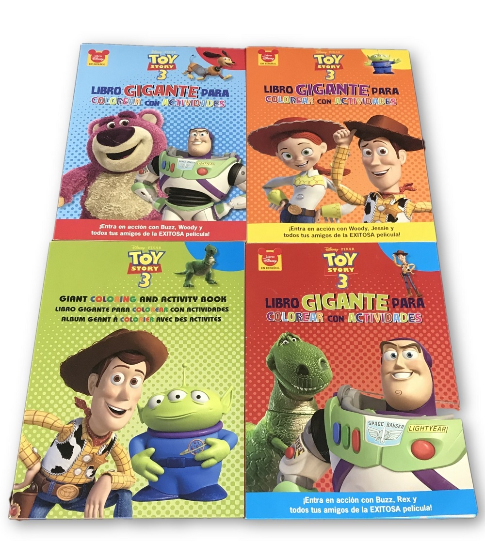Coloring Book Toy Story 4 Book Bundle In Spanish