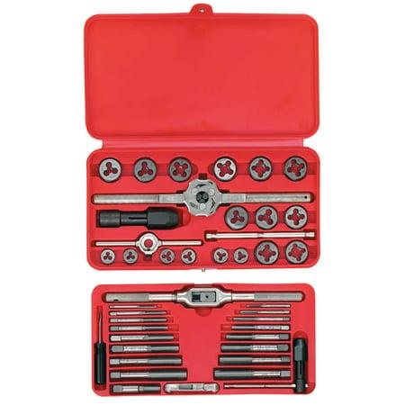 Irwin Hanson 41-pc Machine Screw / Fractional Tap & Hex Die Set (Tap Die Set Large)