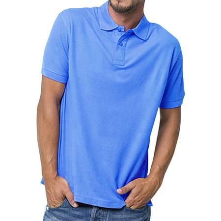 Basico Men's 100% Cotton Polo Short Sleeve (Pink Short Sleeve Polo Shirt)