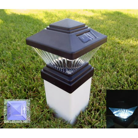 PL246 Matte Black Color Square Solar Light Post Cap Pvc Fence Style - image 1 of 1