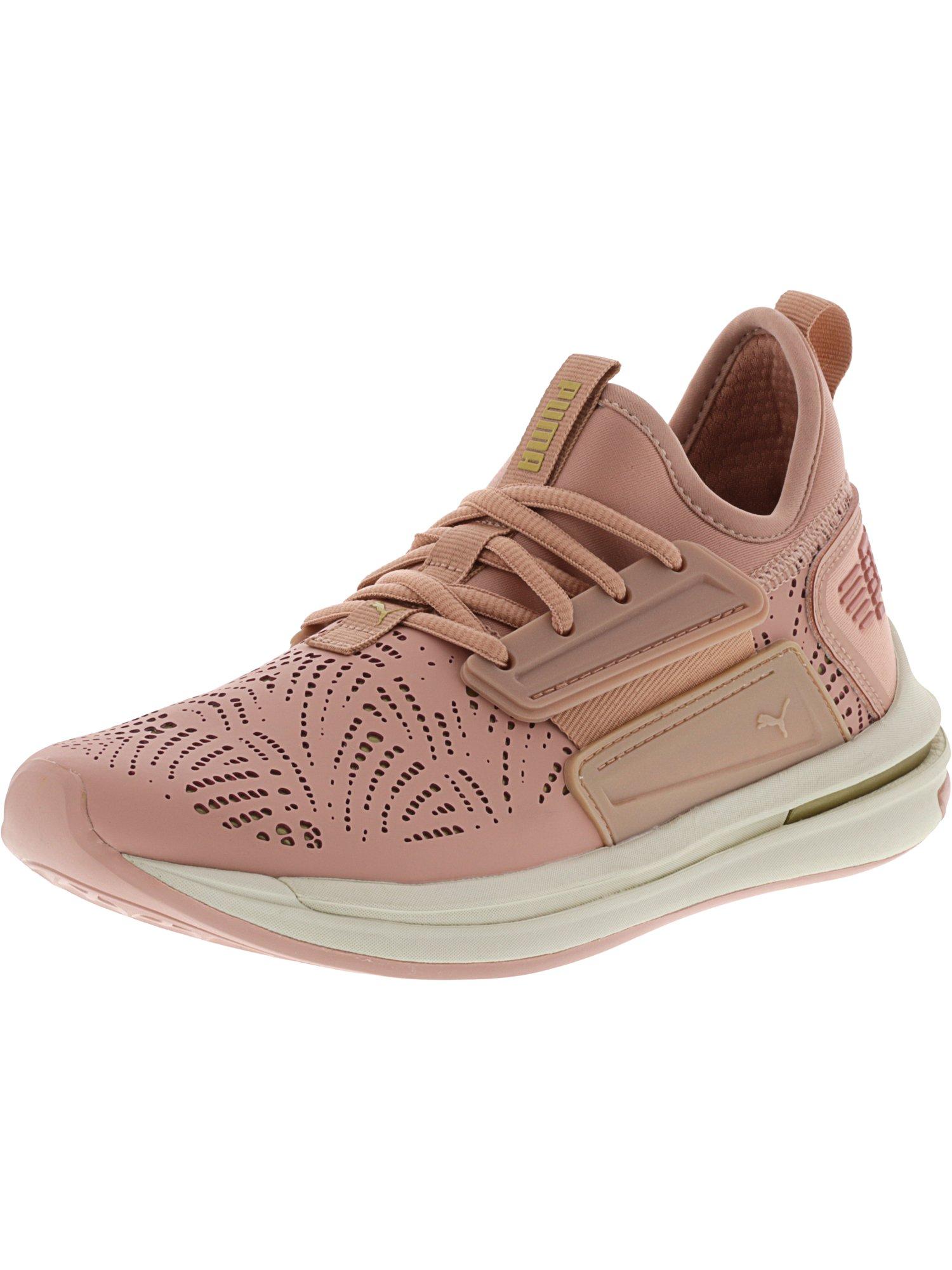 Puma Women's Ignite Limitless Sr Lc Peach Beige / Gold Ankle-High Running Shoe - 8M