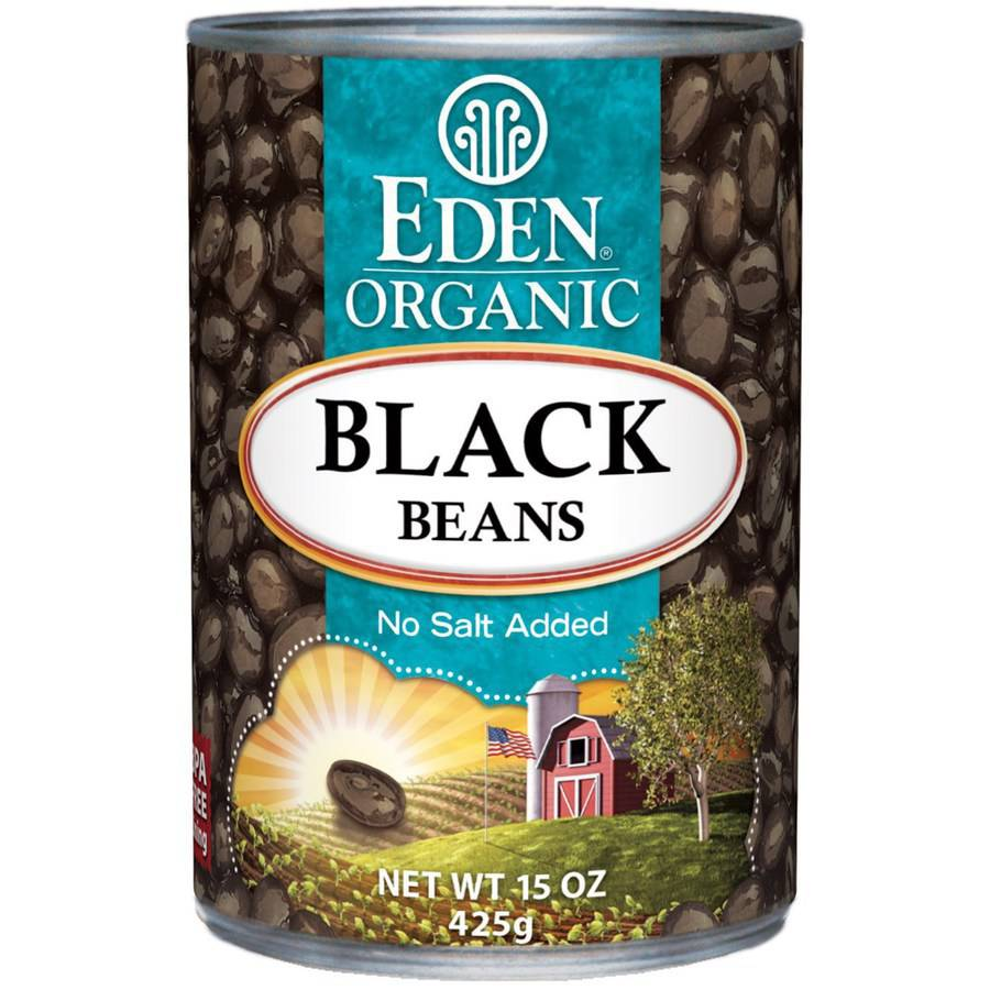 Eden Black Beans, Organic , 15 Ounce (Pack of 6) by