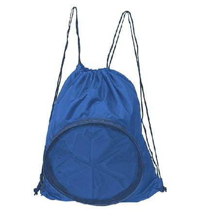 BLUE SPORT BALL MESH DRAWSTRING CINCH -