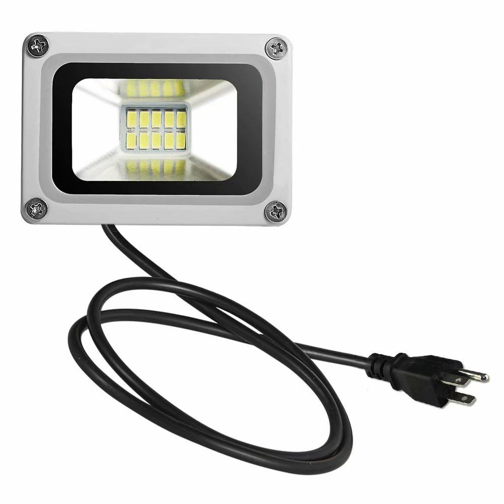 10W LED Flood Light Cool White with US Plug 110V