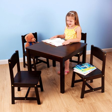 Farmhouse Table 4 Chair Espresso - KidKraft