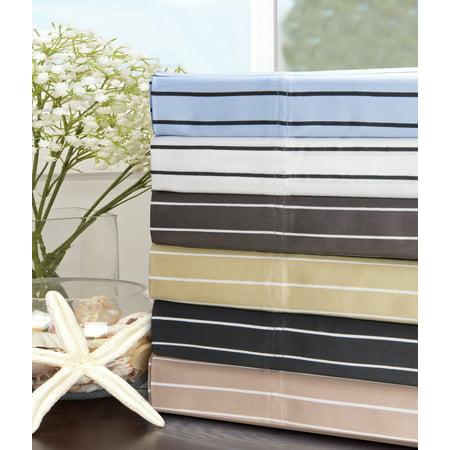 Impressions 600 Thread Count Cotton Rich Bahama Stripe Duvet Set