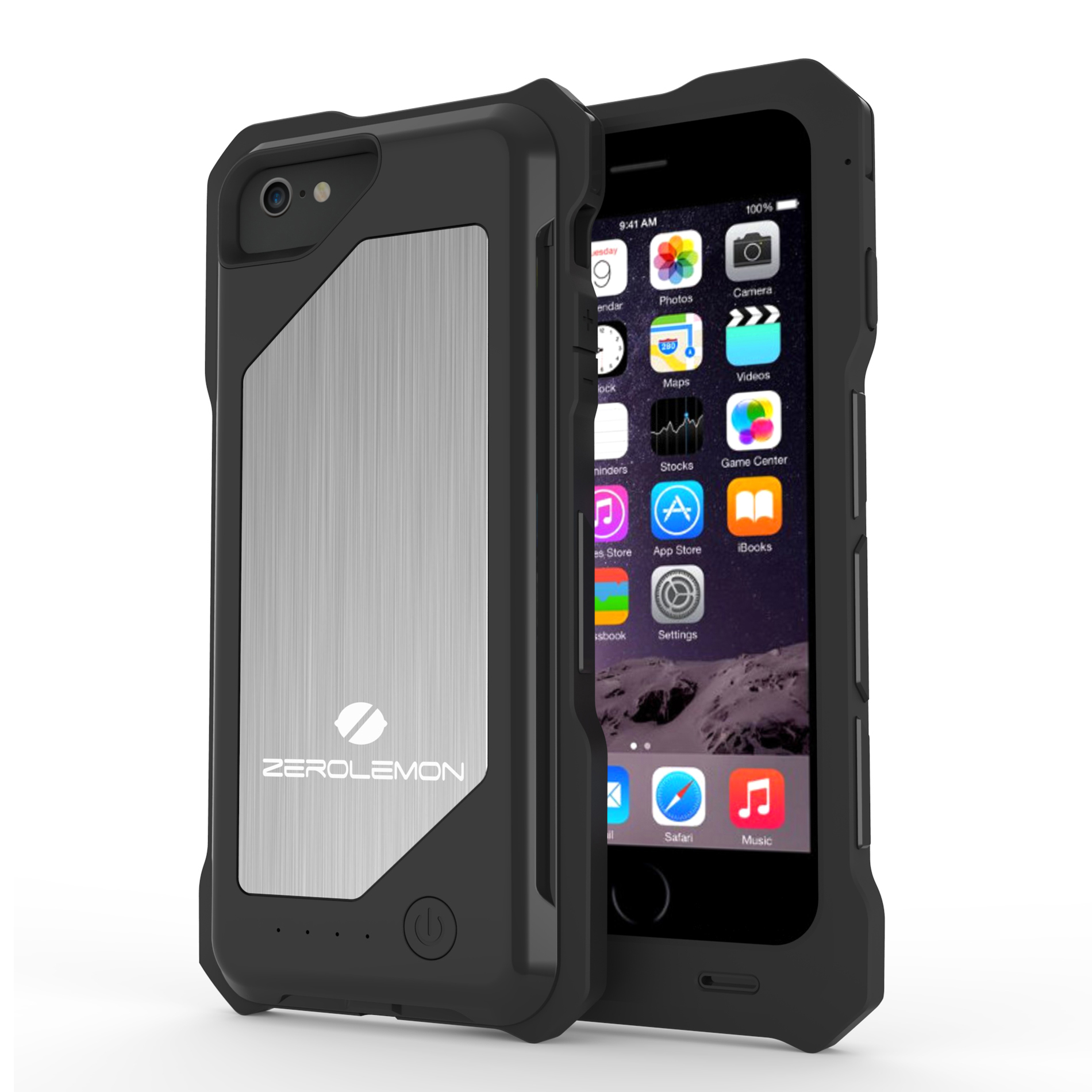 new arrival 32fc8 4f3fa ZeroLemon Y669 Apple iPhone 6 ZeroShock 3,500mAh Rugged Battery Case, Black
