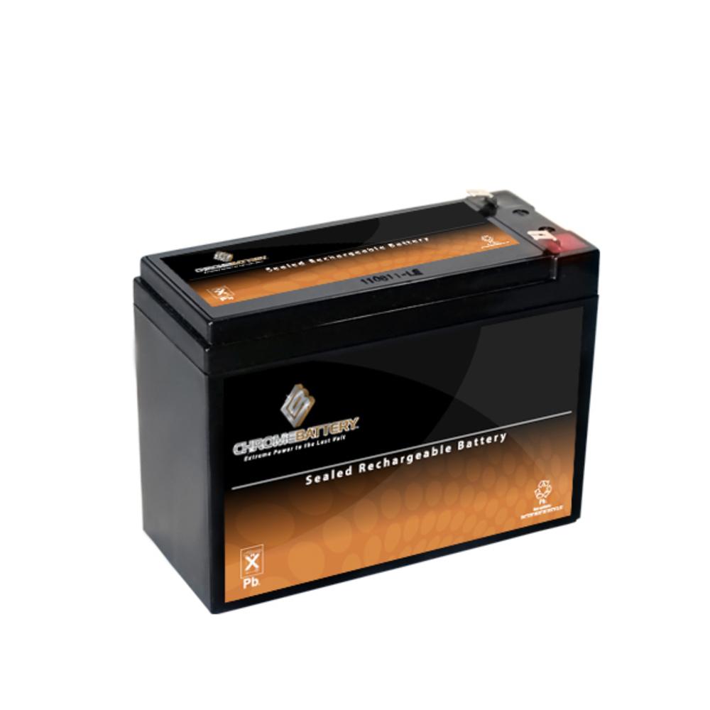12V 10.4AH Sealed Lead Acid (SLA) Battery - T2 Terminals - for ZB-12-10.4