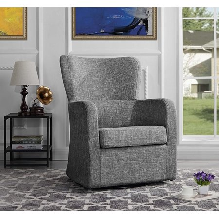 - Modern Swivel Armchair, Rotating Accent Chair for Living Room (Light Grey)