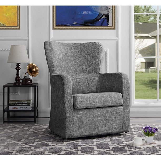 Modern Swivel Armchair, Rotating Accent Chair for Living ...