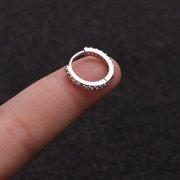AkoaDa 1Pc 6Mm 8Mm 10Mm Cz Cartilage Huggie Hoop Earring Small Hoops Helix Tragus Daith Piercing Jewelry