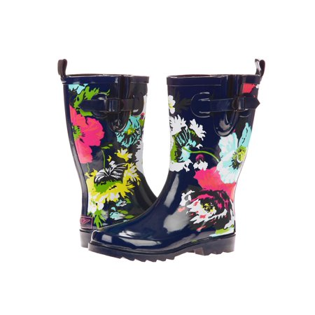 Forever Young Women's All Over Big Floral Printed Rain Boot ()