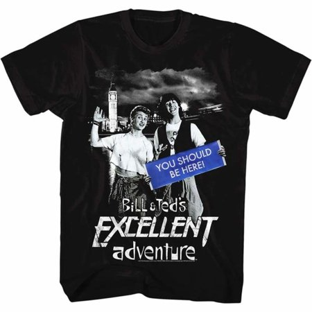 Bill And Ted Halloween (Bill And Ted Movies You Should Be Here Adult Short Sleeve T)
