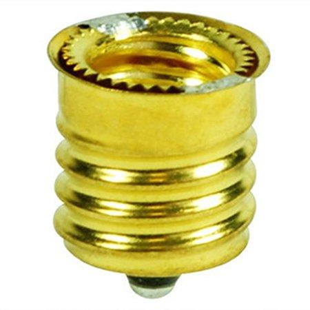 Candelabra Base Socket (Pack of 10 Intermediate Base (E17) to Candelabra Base (E12) Socket Reducer Adapter)
