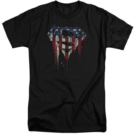 Superman Bleeding Shield Mens Big And Tall Shirt - Mens Superman