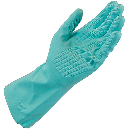 Quickie Reusable Nitrile Gloves, Medium, Green