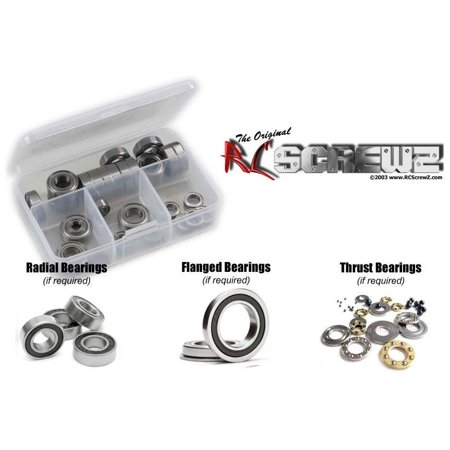 Associated Wheel - RC Screwz Rubber Shielded Bearing Kit for Associated RC10B64D 1/10th 4wd