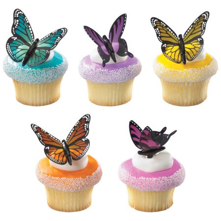 Butterfly Cupcake Picks - 12 Count
