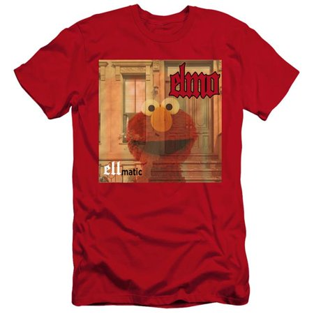 Trevco Sportswear SST276-PSF-5 Sesame Street & Ellmatic-HBO Short Sleeve Adult 30-1 T-Shirt, Red - 2X - image 1 de 1