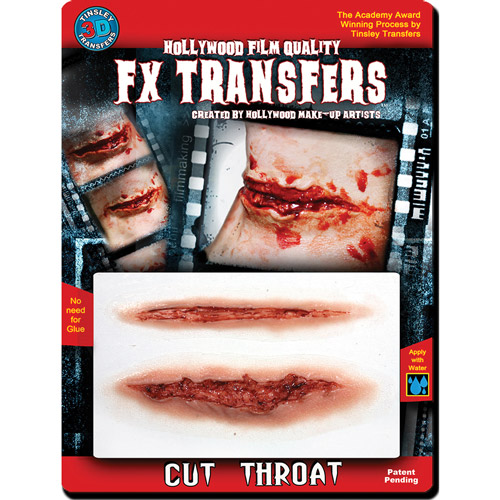 Halloween 3D FX Medium Cut Throat