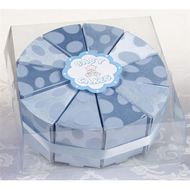 Lillian Rose 24FA110 B Set of 10 Baby Cakes Favor-Blue