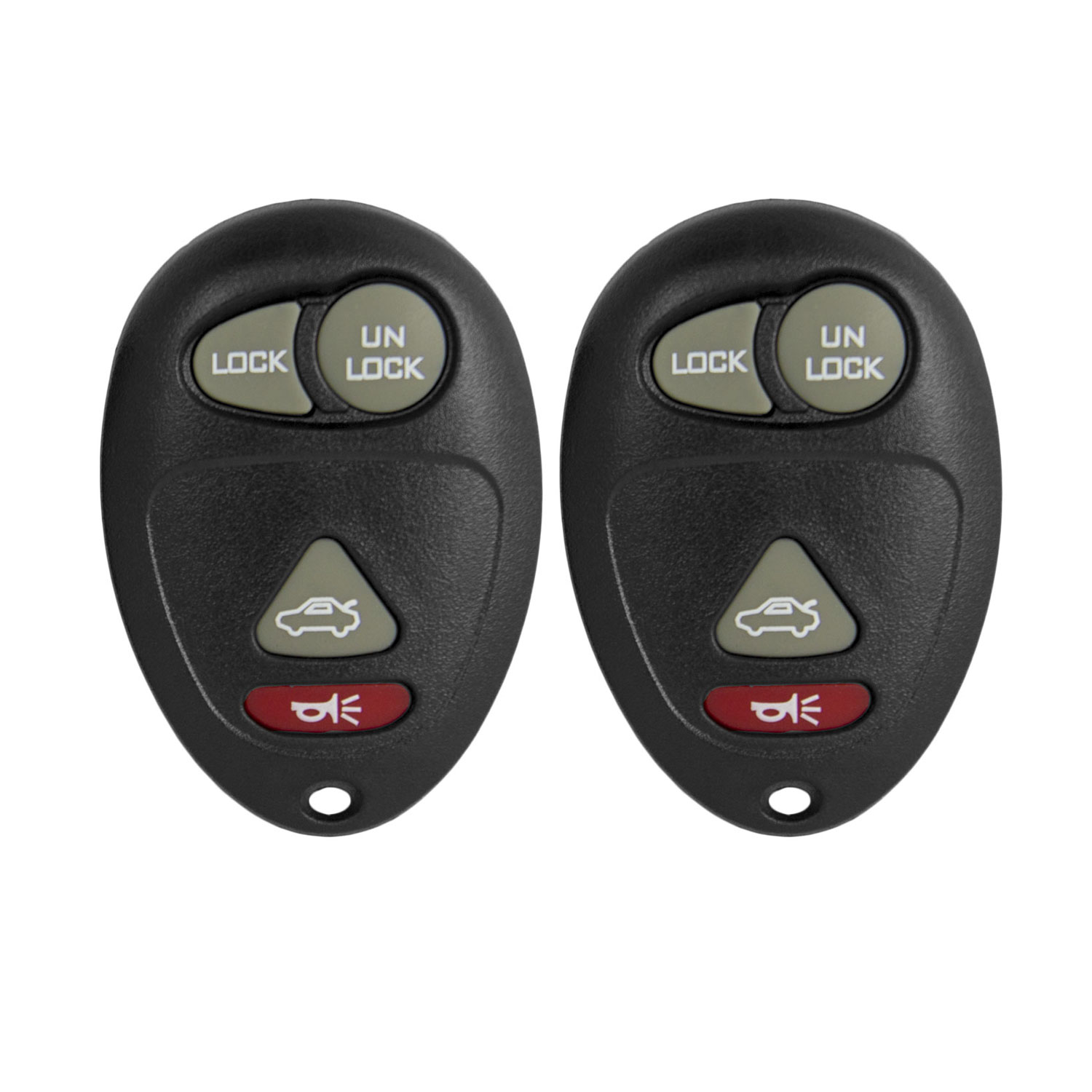 Keyless2Go New Replacement Shell Case and 4 Button Pad for Remote Key Fob with FCC L2C0007T - SHELL ONLY (2 Pack)