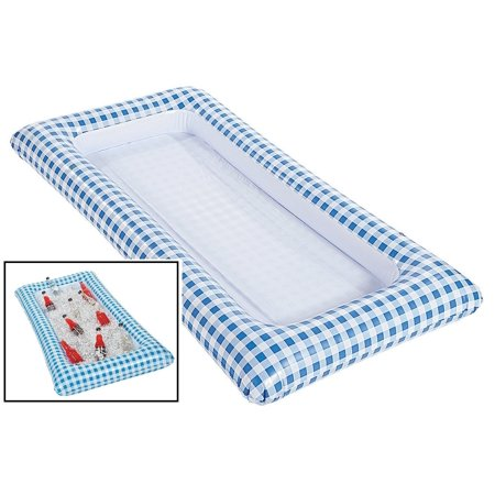 Blue Gingham Inflatable Buffet - Serveware, Inflated: 54