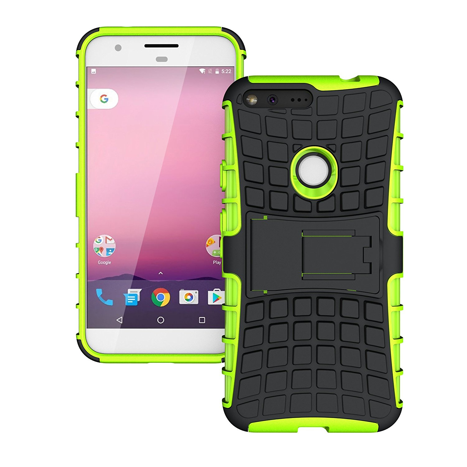 TCD Google PIXEL Hybrid Grenade Armor Protective Case with Kickstand