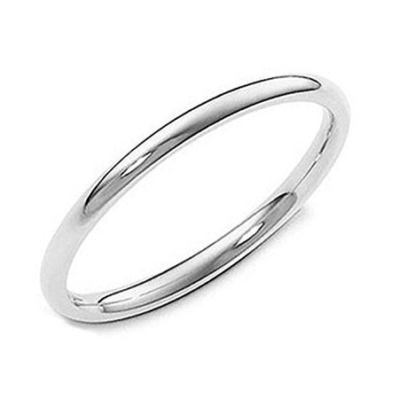 Sterling Silver 2MM High Polish Plain Dome Tarnish Resistant Comfort Fit Wedding Band Ring (8)