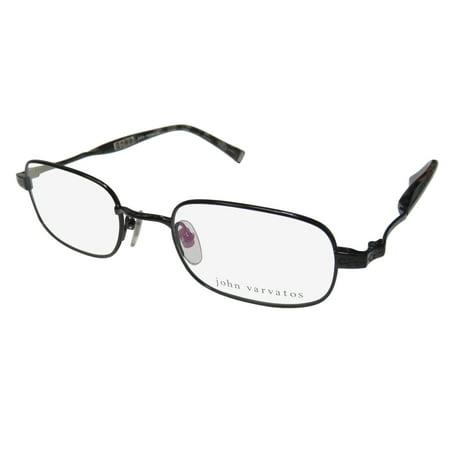 New John Varvatos V140 Mens Designer Full-Rim Black / Gray Pattern Stunning High Quality Hip Frame Demo Lenses 50-20-140 (Cheap Designer Eyeglasses For Men)