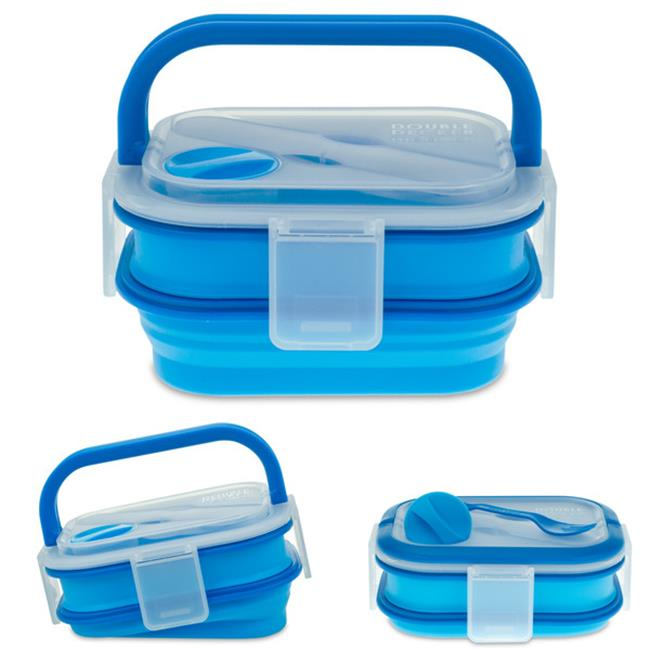 Smart Planet BMK2B 58 oz.  Double Decker Meal Kit - Blue