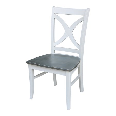 Vineyard Curved X Back Chair - White/Heather Gray - Set of 2 ()