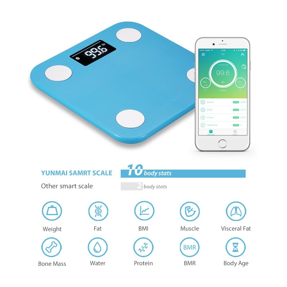 Yunmai Wireless Bluetooth Smart Scale with Body Fat & Protein ...